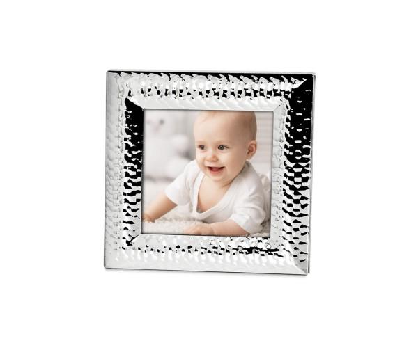 Fotorahmen Bilderrahmen Gubbio für Foto 10 x 10 cm, edel versilbert, anlaufgeschützt