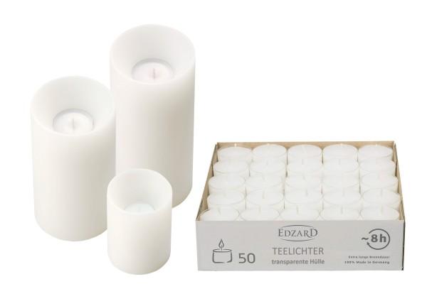 9x Cornelius Stumpenkerzen mit 150 Teelichtern