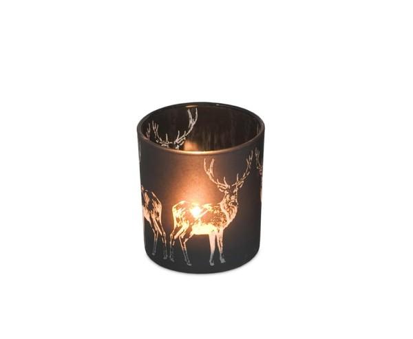 Windlichtlicht Hirsch H 8 cm