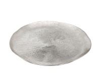 Dekoteller Teller Grissel, Aluminum, gebürstet, vernickelt, Durchmesser 32 cm