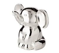 2. Wahl Spardose Sparbüchse Elefant, Höhe 11 cm, edel versilbert, anlaufgeschützt
