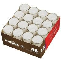 48 Stück Teelichtkerzen Teelichter , weiß, transparente Hülle, Brenndauer ca. 8 h