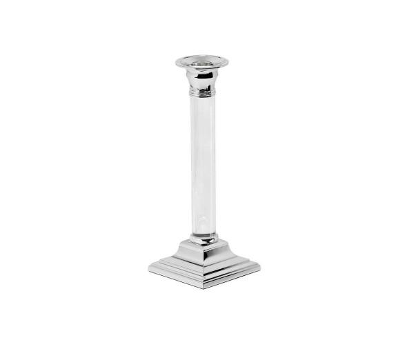 SALE Kerzenleuchter Vanessa für Stabkerze, Höhe 23 cm, edel versilbert, anlaufgeschützt