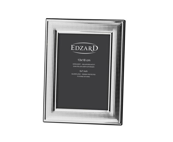 Fotorahmen Viareggio für Foto 13 x 18 cm, edel versilbert, anlaufgeschützt, mit 2 Aufhängern