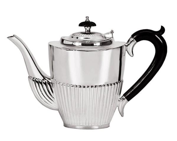 SALE Kaffeekanne Queen Anne, Echtsilber 925/000, Inhalt 1,3 Liter, Silbergewicht 700 Gramm