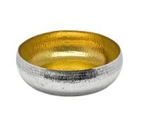 SALE Schale Dekoschale Concordia, Reiskornmuster, innen Gold-Optik, Durchmesser 35 cm