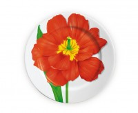 SALE TAITÙ FREEDOM Teller flachØ27 cm, rote Blüte